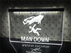 Man Down Funny Illuminated Sign