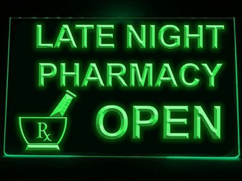 Late Night Pharmacy Illuminated LED Sign