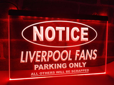 Image of Liverpool Fans Only Illuminated Sign