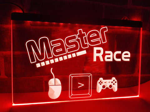 Image of Master Race Illuminated Sign