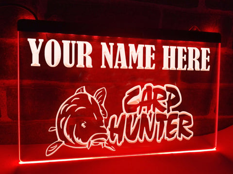 Carp Hunter Personalized Illuminated Sign