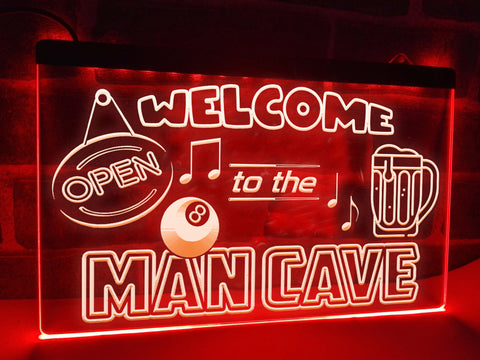 Welcome to the Man Cave Illuminated Sign