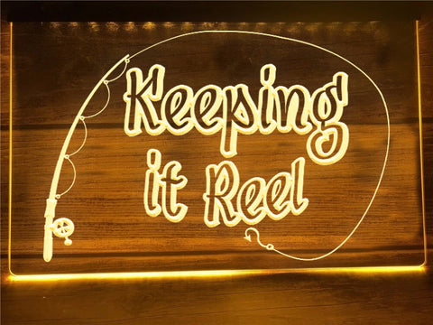Image of Keeping it Reel Illuminated Sign
