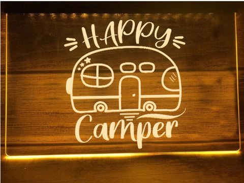 Image of Happy Camper Airstream Illuminated Sign