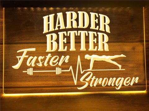 Image of Harder Better Faster Stronger Illuminated Sign