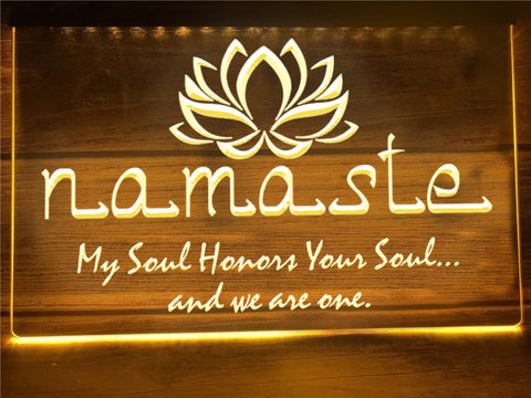 Namaste Illuminated Sign