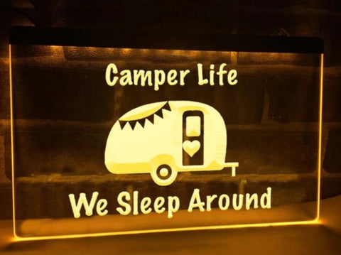Image of We Sleep Around Illuminated Sign