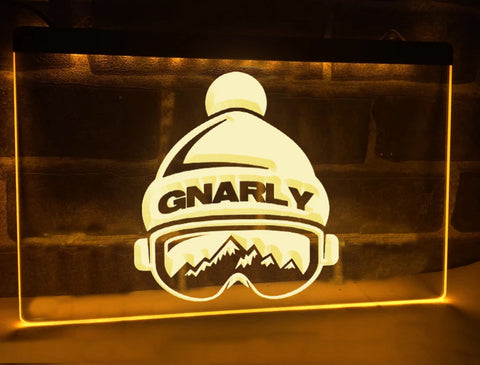 Gnarly Illuminated Sign