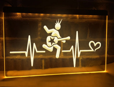 Rocker's Heartbeat Illuminated Sign