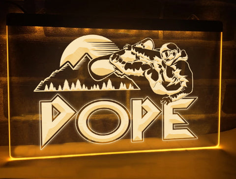 Image of Dope Snowboarder Illuminated Sign
