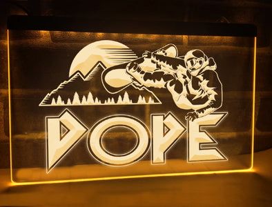 Dope Snowboarder Illuminated Sign