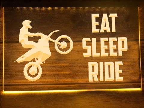 Image of Eat Sleep Ride Illuminated Sign