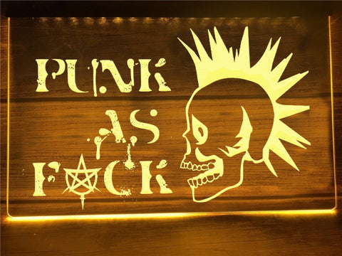 Image of Punk Skull Illuminated Sign