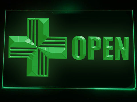 Image of Open Medical Services Illuminated Sign