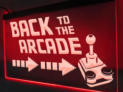 Back to the arcade Neon sign