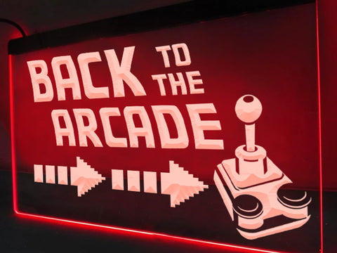 Back To The Arcade Illuminated Sign