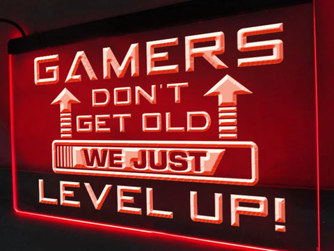 Image of Gamers Don't Get Old Illuminated Sign