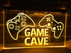 Game Cave Illuminated Sign