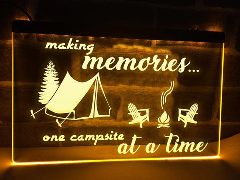 Image of Making Memories in Tent Illuminated Sign