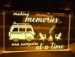 Making Memories in Campervan Illuminated Sign