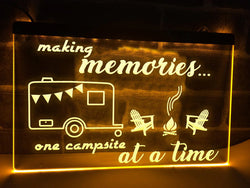 Making Memories in Caravan Illuminated Sign