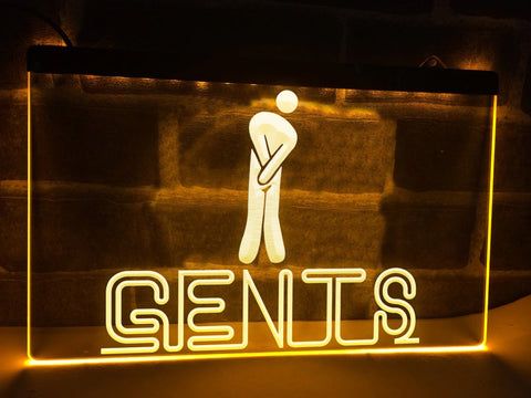 Image of Gents Restroom Illuminated Sign