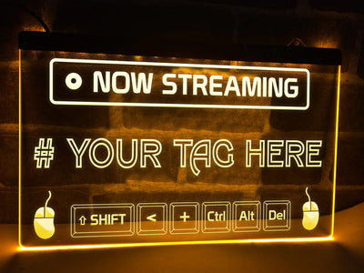 Now Streaming Personalized Illuminated Sign