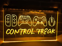 Control Freak Illuminated Sign