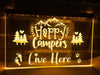 Happy Campers Live Here Illuminated Sign
