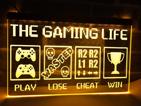 Image of The Gaming Life Illuminated Sign