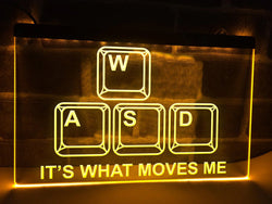 It's What Moves Me Illuminated Sign