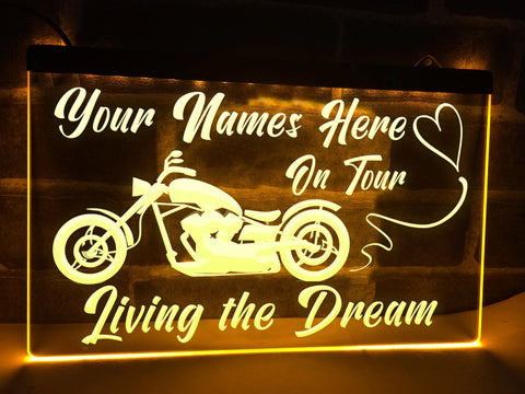 Chopper on Tour Personalized Illuminated Sign