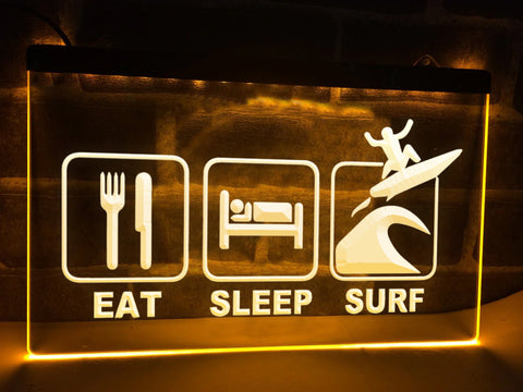 Eat Sleep Surf Illuminated Sign
