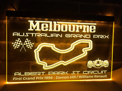Australian Grand Prix Illuminated Sign