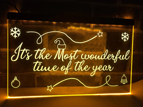 Image of Most Wonderful time of the Year Illuminated Sign