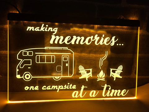 Image of Making Memories in Motorhome Illuminated Sign