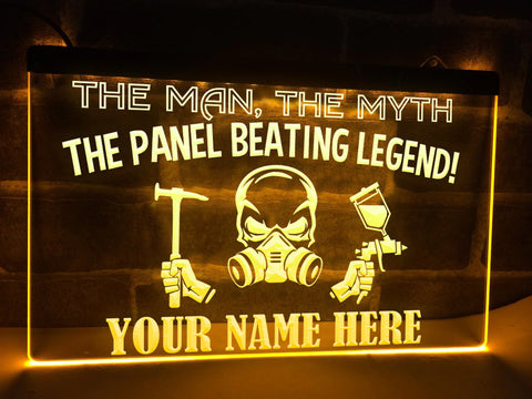 Panel Beating Legend Personalized Illuminated Sign