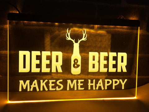 Image of Deer and Beer Illuminated Sign