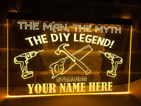 Image of The DIY Legend Personalized Illuminated Sign