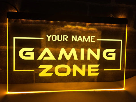 Image of Gaming Zone Personalized Illuminated Sign
