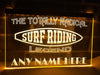 Surf Riding Legend Personalized Illuminated Sign