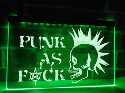 Punk Skull Illuminated Sign