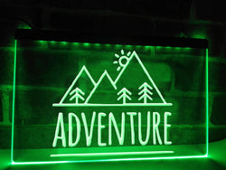 Outdoor Adventure Illuminated Sign