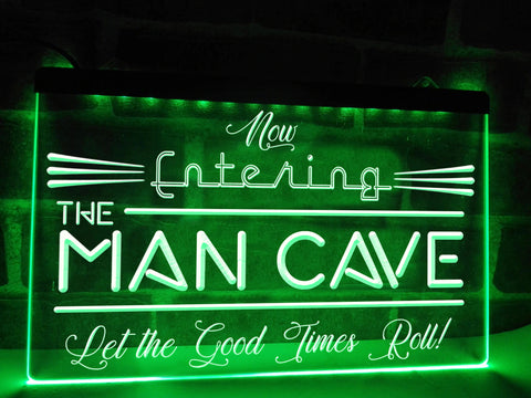 Image of Now Entering the Man Cave Illuminated Sign