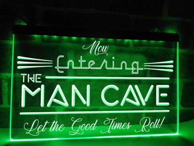 Now Entering the Man Cave Illuminated Sign