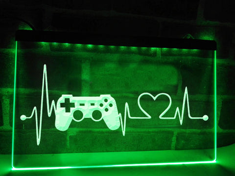 Image of Gamer's Heartbeat Illuminated Sign