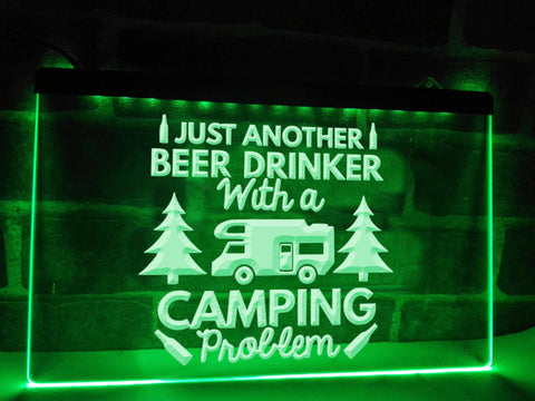Image of Camping Problem Funny Illuminated Sign