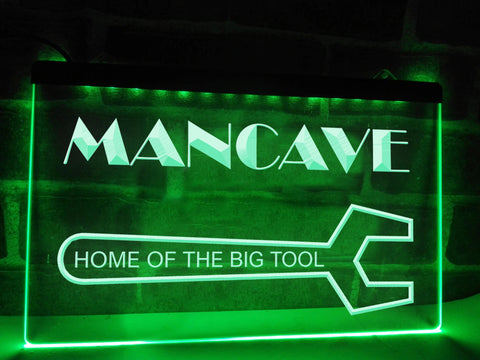 Image of Man Cave Home of the Big Tool Illuminated Sign