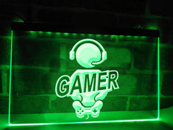 Seated Gamer Illuminated Sign