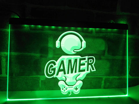 Image of Seated Gamer Illuminated Sign